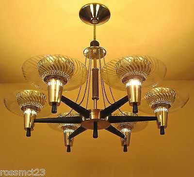 Vintage Lighting extraordinary Mid Century Modern fixture by Globe