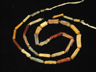 Ancient Fragment Glass Beads Strand Roman 200 BC No Reserve    #BK1020