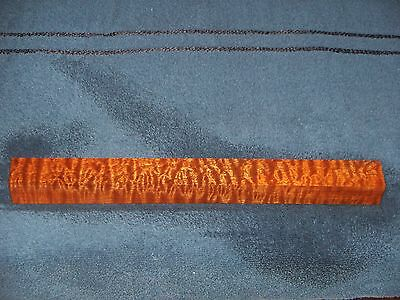 Aaaaa Quilted/pomelle Sapele Pool Cue Blank  #7849