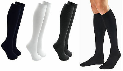 3-12 Pairs Mens Gents Long Hose 100/%Cotton Ribbed Comfy Grip Knee High Socks LOT