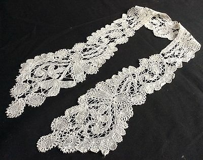 Gorgeous Antique Linen And Lace Embroidered Collar