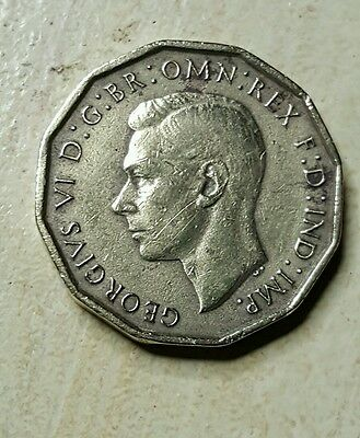 Great Britain 1945 3 Pence Brass-- See photos