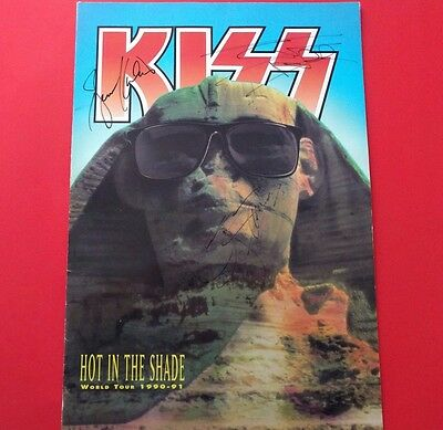 KISS Hot In The Shade Tour Program **SIGNED BRUCE KULICK ERIC CARR GENE SIMMONS!