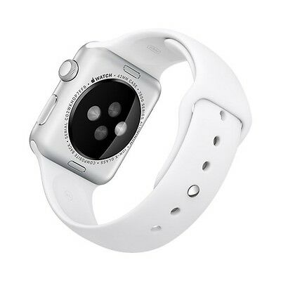 ROCK Sports Silicone Watch Band Strap for Apple Watch Series 1 & 2 (42mm) White