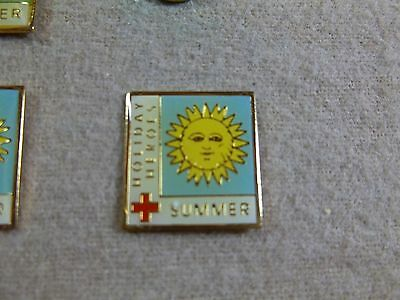 """""""SUMMER"""" - an American Red Cross Blood Services Holiday Heroes program pin"""