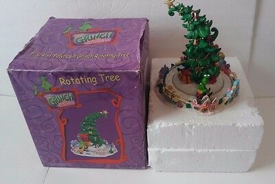 How the Grinch Stole Christmas Rotating Tree Figurine In Box Battery Operated