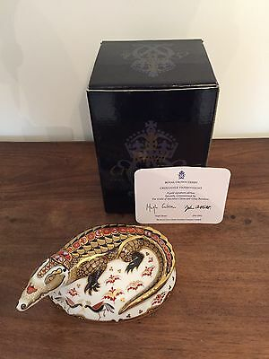 Royal Crown Derby Crocodile Gold Signature Edition Paperweight