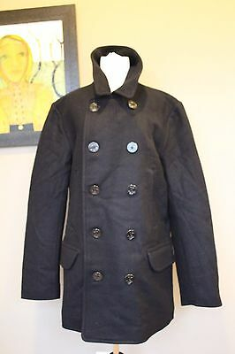 NWT J Crew Men's Tall Dock Peacoat w Thinsulate NAVY Size Large 05535 $318