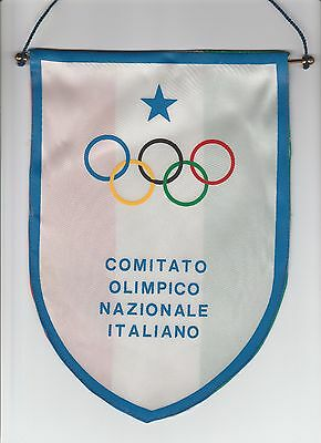Orig.pennant   ITALY Olympic Comittee  -  80th Years  !!  VERY RARE