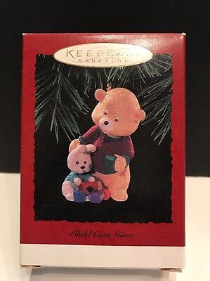 "Hallmark 1996 ""CHILD CARE GIVER"" Christmas Ornament **NEW*"