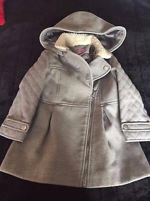 Girls Grey Coat Age 2-3