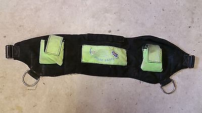 Polar Bears Shot Pouch Weight Belt - Black / Green