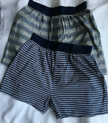 2 Pack NEW NEXT 100%Cotton Loose Boxers Underwear UK- Small