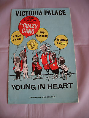 """London Victoria Palace Programme - 1961 - """"young In Heart"""""""
