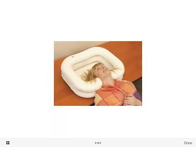 Inflatable hair wash sink