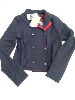 BNWT Jean Bourget Navy Jersey Jacket Age 10 Years 140cm
