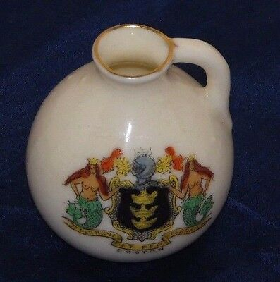Antique Vintage Arcadian Crested China Jug - Boston Linclonshire