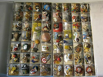 Vintage Lot of 150+ Lapel pins and Charms - Great variety!