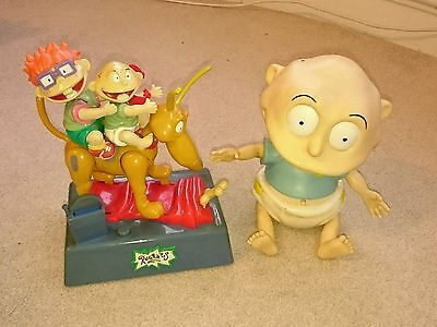 Rare 1997 rugrats moving musical toys money box and talking Tommy thinkway toys