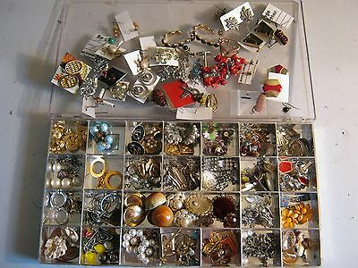 Vintage Lot of 75+ Earrings - Clip on/Screw on - Great variety!