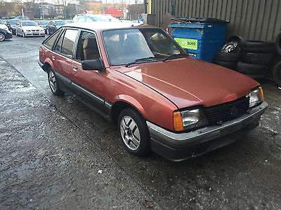 1982 Opel Ascona Sr Red, Mk2 Cavalier Project No Reserve