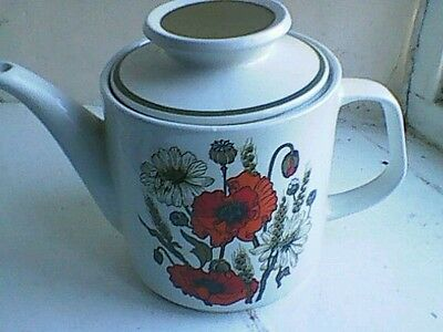 Vintage Poppy Teapot by J and G Meakin