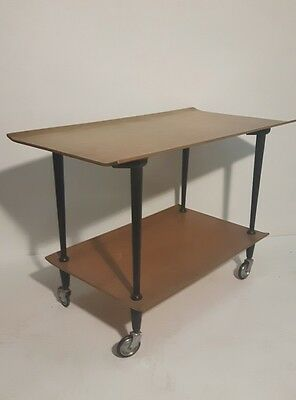 Vintage Retro Bent Plywood Hostess  Trolley Eames G Plan Danish