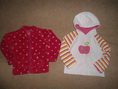 Next Girls Gorgeous Fleece Hoodies Tops Age 2-3 Years -