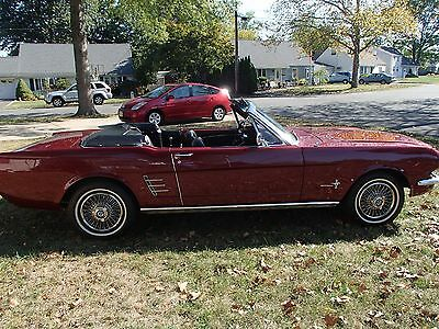 1966 Ford Mustang Automatic 1966 Ford Mustang Convertible
