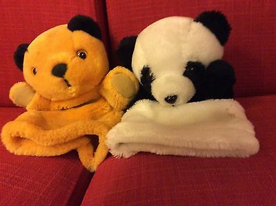 Sooty & Soo Sue plush hand puppets