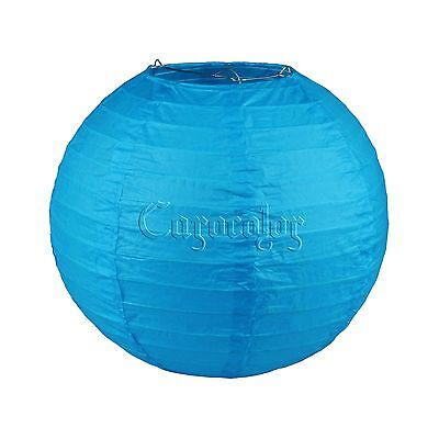 "8"" Turquoise Round Paper Lanterns Lamp Birthday  Wedding Party Home  Decoration"