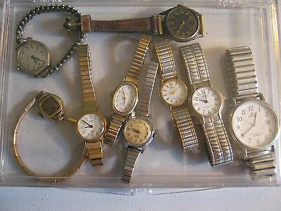 Vintage Lot of 9 watches - Ladies and Mens