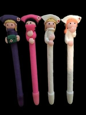 4x Hospital Nurses Pen Set Set Doctors Surgeon Midwife Hospital  Gift UK P&P