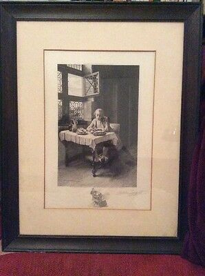 ACHILLE JACQUET Signed Engraving Meissonier Emessonier 1905 Washington