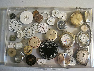 Vintage Lot of 35+ Watch FACES - Ladies and Mens