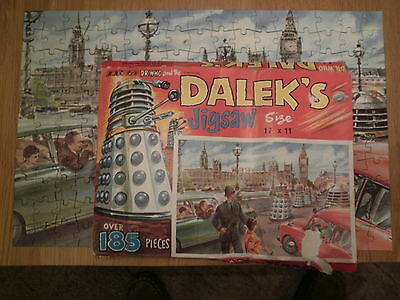 Rare Dr Who 1965 Bbc Jigsaw Daleks In Westminister