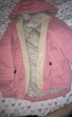 girls pink next coat aged 5 years