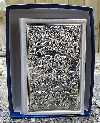 Carrs Bible with embossed sterling silver cover