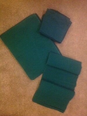 Cargo Set of Green Table mats, table runner and napkins  8 person set