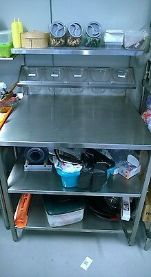 VGC Heavy Commercial Stainless Steel ASSEMBLY Table - PIZZA, SW, FRONT FOOD SHOP