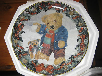 Teddy's Winter Fun Franklin Mint Heirloom Collection Plate