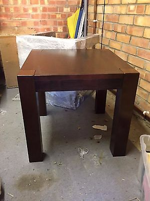 2 Square wooden side tables