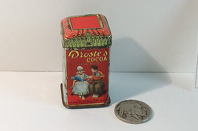 Vintage Droste Cocoa Sample Tin Container Can Droste's Chocolate Advertising