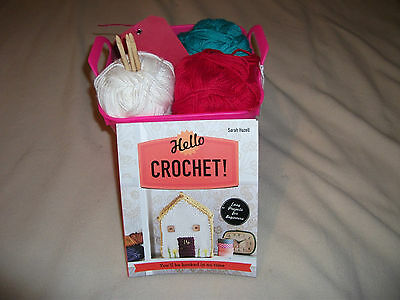 Hello Crochet  (Sarah Hazell)  Kit with mixed colours Cotton Soft  D.Knit Yarn