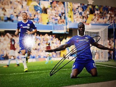 Victor Moses Chelsea Fc Blues Hand Signed 12X8 Photo New Stock