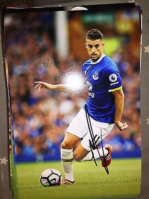 Kevin Mirallas Everton Fc Toffees Hand Signed 12X8 Photo New Stock