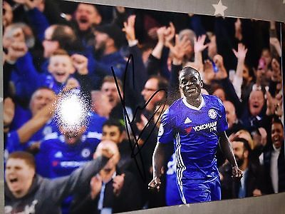 N'golo Kante Chelsea Fc Blues Hand Signed 12X8 Photo New Stock