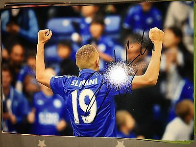 Islam Slimani Leicester City Fc Foxes Hand Signed 12X8 Photo New Stock