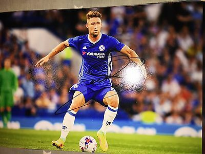 Gary Cahill Chelsea Fc Blues Hand Signed 12X8 Photo New Stock