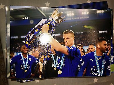 Robert Huth Leicester City Fc Foxes Hand Signed 12X8 Photo New Stock